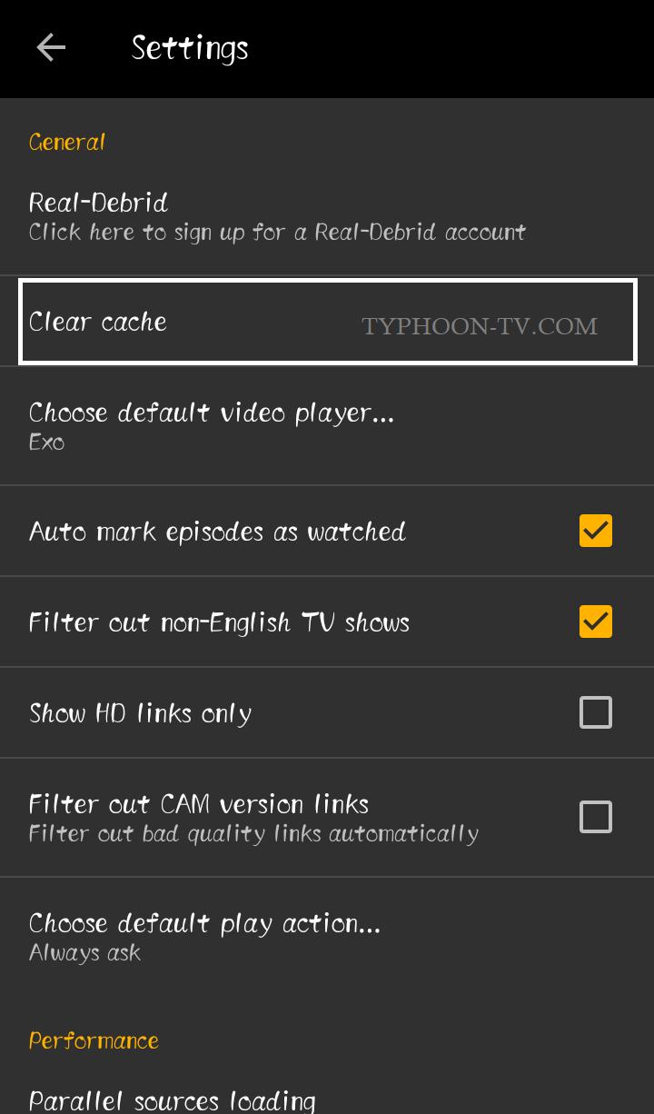 TYPHOON TV NOT WORKING